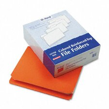 Two-Ply Reinforced File Folder, Straight Cut, Top Tab, Letter, 100/Box