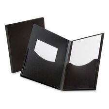 "Twin Pocket Folder,w/ 6"" Pockets,Holds 200 Sheets, Letter Black/Navy (Set of 3)"