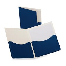 Oxford Double Stuff Gusseted 2-Pocket Laminated Paper Folder, 200-Sheet Capacity