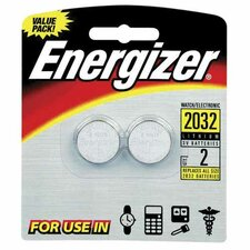 Lithium Batteries, 3.0 Volt, For CR2032/DL2032/LF1/2V (Set of 2)