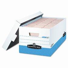 "Bankers Box Presto Maximum Strength Storage Box, Ltr 24"", We, 12/Carton"