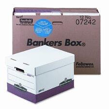 Bankers Box R-Kive Max Storage Box, Letter/Legal, Locking Lid, 12/Carton
