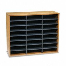 Fiberboard Literature Sorter, 29 X 11 7/8 X 23 3/4, 24 Sections