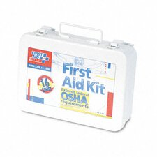 Unitized First Aid Kit for 16 People, 94 Pieces, Osha/Ansi, Metal Case