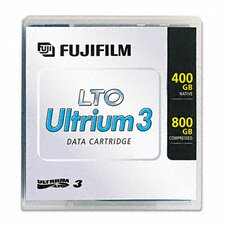 "26230010 1/2"" LTO-3 Data Cartridge, 2200ft, 400GB Native/800GB Compressed Data Capacity"