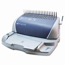 CombBind C210E Electric Comb Binding Machine, 425-Sheets, 16 x 14 x 9, Silver/GY