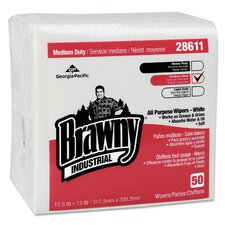 Professional Brawny Industrial Airlaid Medium Duty Folded Wipers - 50 Wipes per Pack / 18 Packs (Set of 18)