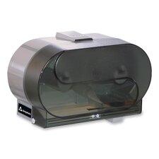Side-by-Side Bathroom Tissue Dispenser,Translucent Smoke