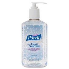 Instant Hand Sanitizer w/Vitamin E , Pump Bottle, 12 oz., 12/CT, Clear
