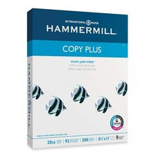 Copy Plus Copy Paper, 92 Brightness, 20lb, 8-1/2 x 11, White, 500 Sheets/Ream