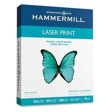 Laser Print Office Paper, 98 Brightness, 28Lb, 500 Shts/Ream