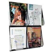 4 Pocket Magazine Wall Rack