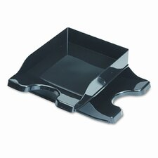 Docutray Multi-Directional Stacking Tray Set, Two-Tier, Polystyrene, Black