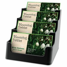 Recycled Business Card Holder, Holds 150, Four-Pocket