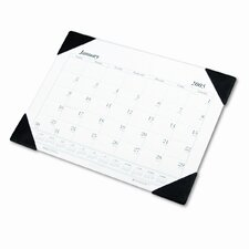Workstation-Size One-Color Monthly Desk Pad Calendar, 18-1/2 x 13, 2015