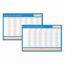 All-Purpose/Vacation Plan-A-Board Wall Mounted Calendar/Planner Whiteboard, 2' x 3'