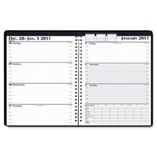 Weekly Business Planner, 7 x 10, Black