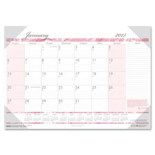 Breast Cancer Awareness Monthly Desk Pad Calendar, 18-1/2 x 13, 2012