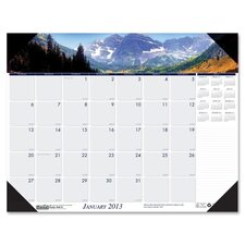 Mountains Desk Pad Calendar