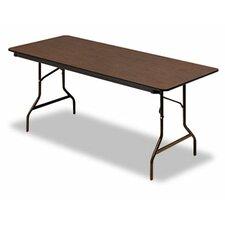 """Iceberg Economy Wood Laminate 72"""" Rectangular Folding Table"""