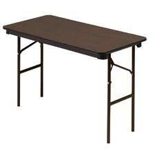 "Wood 48"" Rectangular Folding Table"