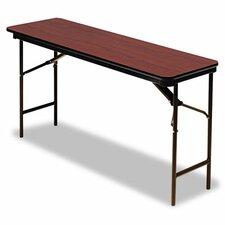 "Iceberg Premium Wood Laminate 72"" Rectangular Folding Table"