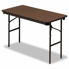 "Iceberg Economy Wood Laminate 48"" Rectangular Folding Table"