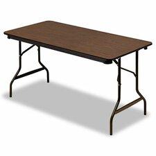 """Iceberg Economy Wood Laminate 60"""" Rectangular Folding Table"""