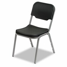 Rough 'n' Ready Armless Mid-Back Leather Stacking Chair