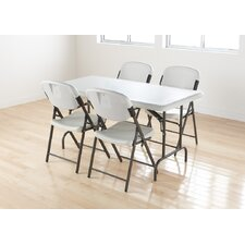 Economy Folding Chair in Platinum (Pack of 4)