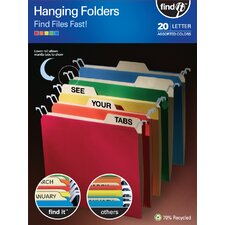 Find It Tab View Hanging Folders (20 Pack)