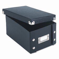 Snap-N-Store Snap 'N Store Collapsible Index Card File Box Holds 1,100 4 X 6 Cards