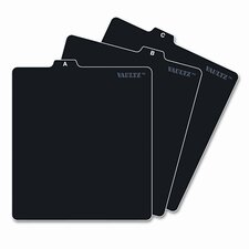 A-Z CD File Guides, 5 x 5 3/4, Black (Set of 2)