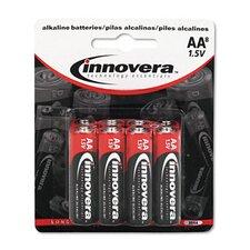 Alkaline Battery, Aa, 8/Pack