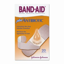 Antibiotic Adhesive Bandages, Assorted Sizes, 20 per Box (Set of 2)