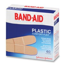 Johnson Band-Aid Plastic Bandages, 60 per Box (Set of 3)