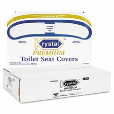 Boardwalk Premium Half-Fold Toilet Seat Covers - 250 Covers per Box