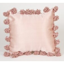 Madison with Pom Poms Throw Pillow