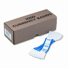Self-Adhesive Currency Straps, Blue, $100 in Dollar Bills, 1,000 Bands per Box