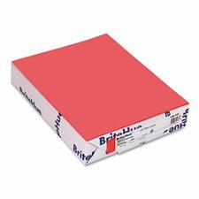 Brite-Hue Multipurpose Colored Paper, 20 lbs., 8-1/2 x 11, Ultra Lava, 500/Ream
