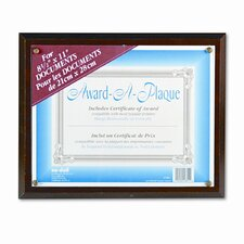 Award-A-Plaque Document Holder, Acrylic/Plastic