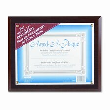 Award-A-Plaque Document Holder, Acrylic/Plastic, 10-1/2 X 13