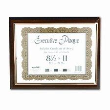 Executive Plaque Frame, Plastic