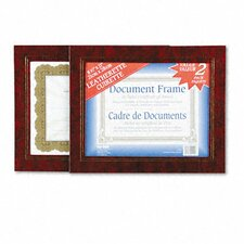 Leatherette Document Frame, 8-1/2 X 11, Pack of Two