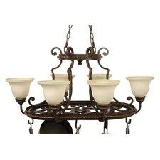 Riata 8 Light Hanging Pot Rack