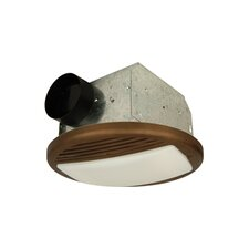 Round Bathroom Fan with Light in Bronze