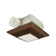 "12.4"" H x 12.4"" Bathroom Ventilation Fan with Light in Bronze"
