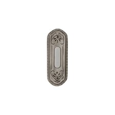 Designer Series Surface Mounted Push Button Door Bell in Antique Pewter