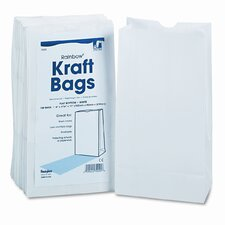 Rainbow Bags, 6# Uncoated Kraft Paper, 6 x 3-5/8 x 11, White, 100 per Pack