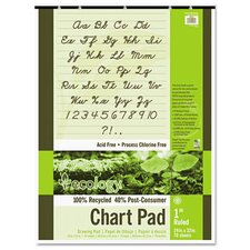 S.A.V.E Recycled Chart Pad, 1In Ruled